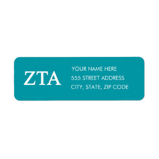 Étiquette De Zeta alpha Lil grand logo de Tau