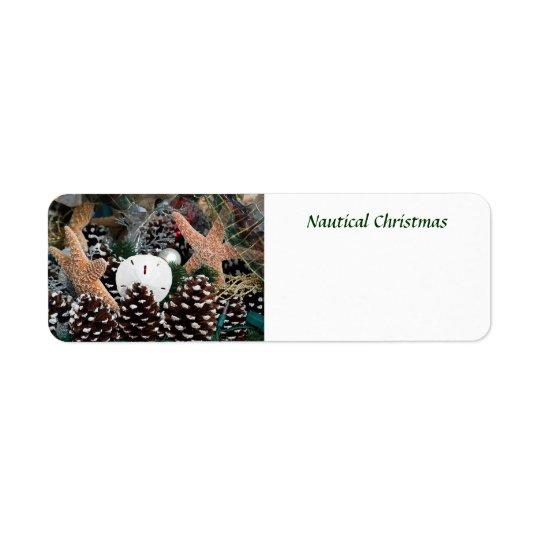 Étiquette Décorations nautiques de Noël