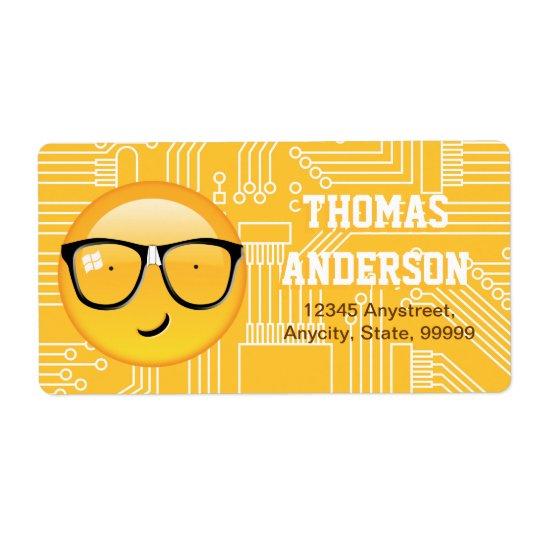 Étiquette D'Emoji technicien ID229 totalement