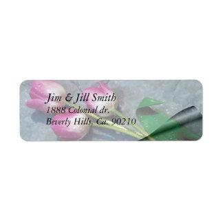 Étiquette Désolé pour vos tulipes de rose de perte