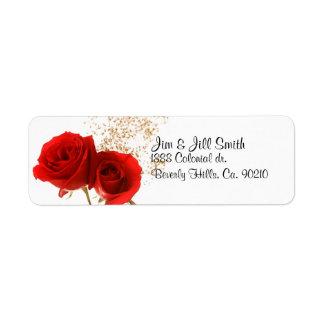 Étiquette Deux roses rouges