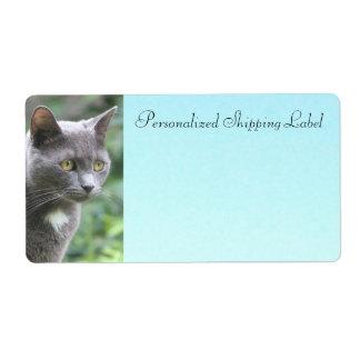 Étiquette d'expédition de chat