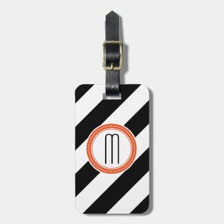 Étiquette diagonale de bagage de monogramme de ray étiquette à bagage