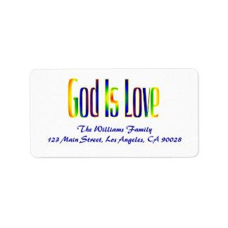 Étiquette Dieu est amour