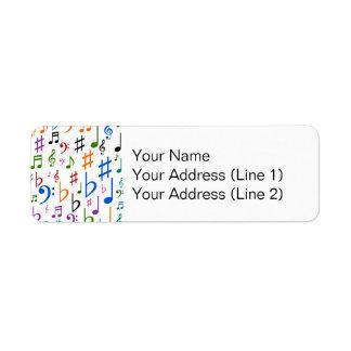 Étiquette Divers notes musicales et symboles