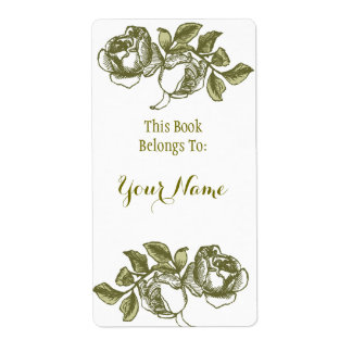 Étiquette d'or blanc de Bookpate gravure à
