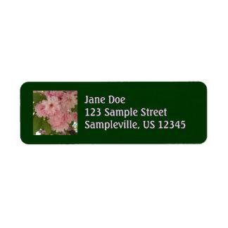 Étiquette Double ressort rose se développant du cerisier II