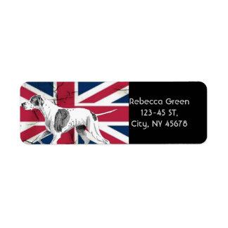 Étiquette Drapeau britannique de cric des syndicats de rétro