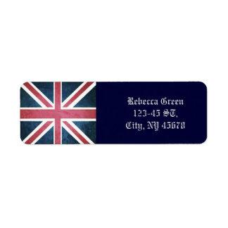 Étiquette Drapeau britannique grunge de cric des syndicats