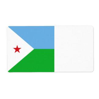 Étiquette Drapeau de Djibouti