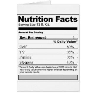 Étiquette drôle de nutrition de retraite carte de vœux