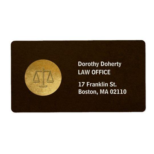 Étiquette Échelles de cabinet juridique de la justice |