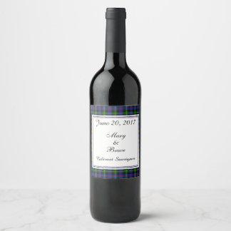 Étiquette écossais de vin de mariage de