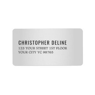 Étiquette élégant minimaliste de noir d'argent de