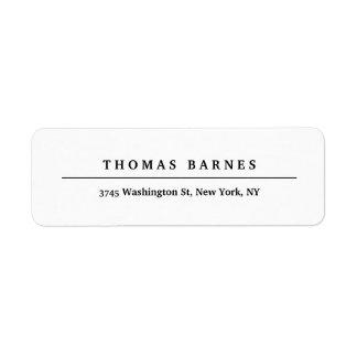 Étiquette Élégant simple minimaliste blanc classique
