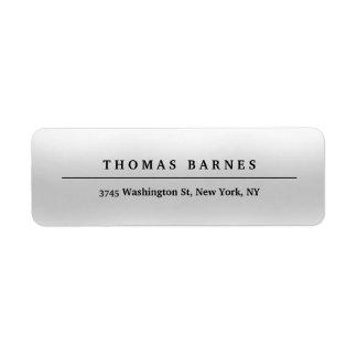 Étiquette Élégant simple minimaliste gris classique