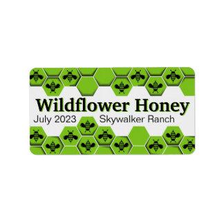 Étiquette Emballage customisé par nid d'abeilles de fleur