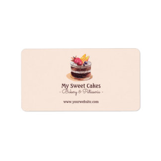 Étiquette Emballage de petit gâteau de patisserie de gâteau