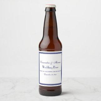 Étiquette encadré élégant de bouteille à bière du