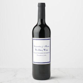 Étiquette encadré élégant de bouteille de vin du