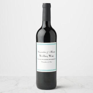 Étiquette encadré par Aqua élégant de bouteille de