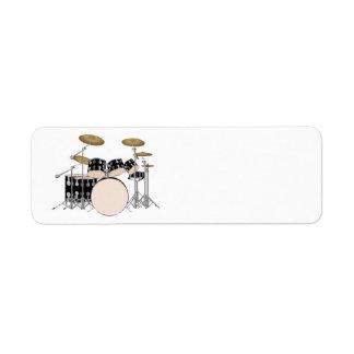 Étiquette Ensemble illustré de tambour