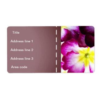 Étiquette Épouser coloré de fleurs