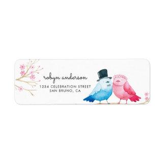 Étiquette Épouser d'inséparables des fleurs de cerisier |