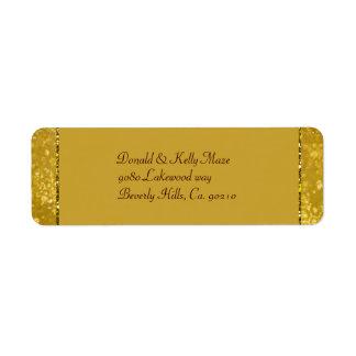 Étiquette Épouser d'or de flocons de neige de tape-à-l'oeil