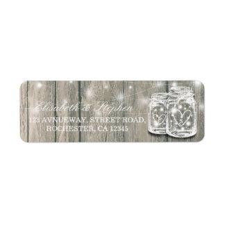 Étiquette Épouser la lumière en bois rustique de ficelle de