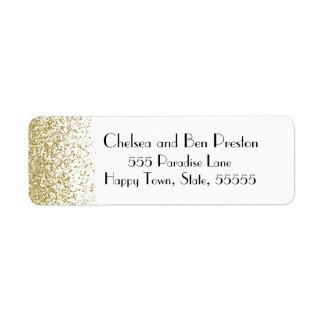 Étiquette Étincelle ultra chic de scintillement d'or