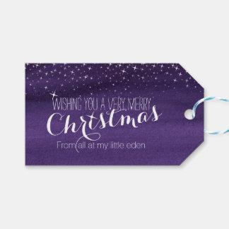 Étiquettes-cadeau Étiquette étoilée de cadeau de ciel nocturne de