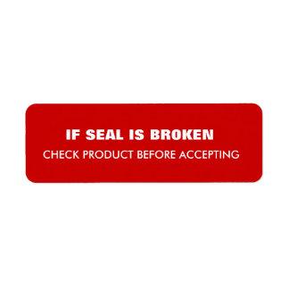 Étiquette Expédition d'avertissement