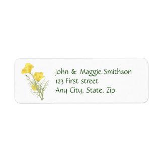 Étiquette fait sur commande de fleur de jardin de