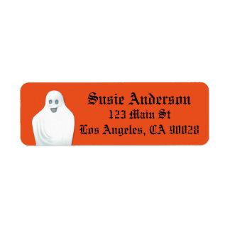 Étiquette Fantôme heureux Halloween