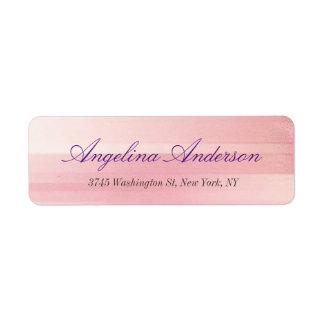 Étiquette Féminin moderne d'écriture rose élégante à la mode