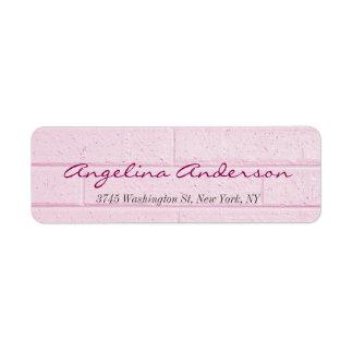 Étiquette Féminin moderne d'écriture rose élégante de mur