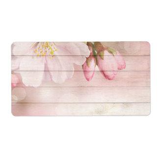 Étiquette Fleurs de cerisier
