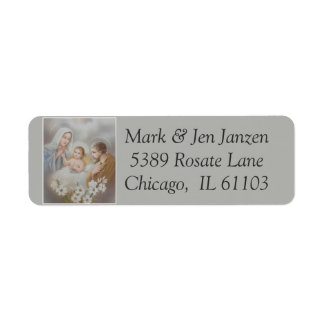 Étiquette Fleurs de Manger de nativité de Jésus Mary Joseph