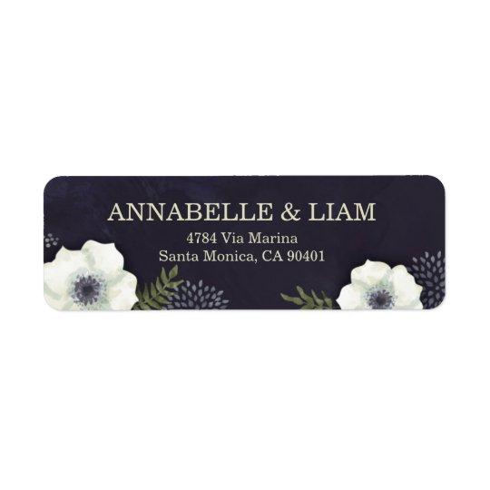 Étiquette Fleurs de nuit d'été épousant l'étiquette de