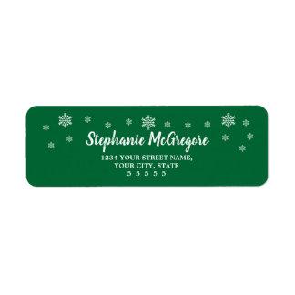 Étiquette Flocons de neige classiques de Noël de vacances