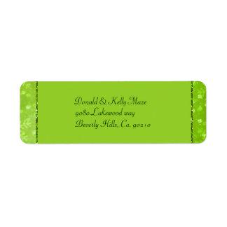 Étiquette Flocons de neige de miroitement de vert et de