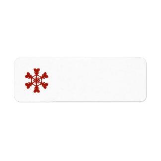 Étiquette Flocons de neige rouges