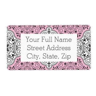 Pink Rococo Pattern Flourish