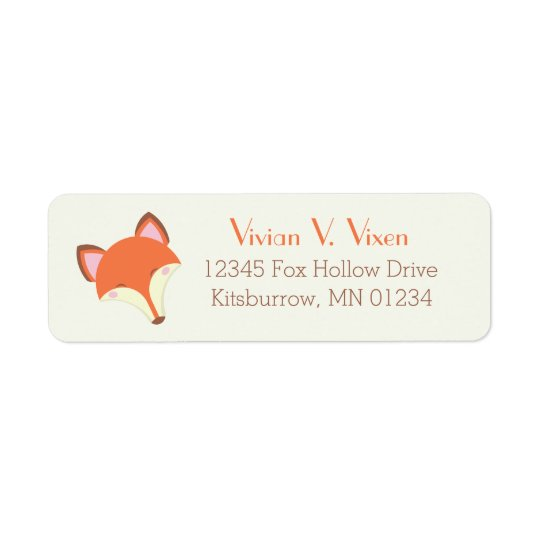 Étiquette Fox de Kawaii
