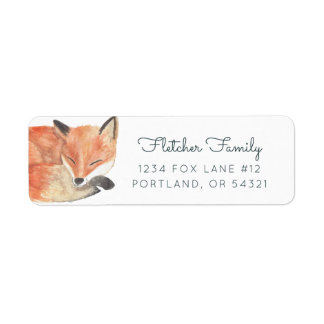Étiquette Fox d'hiver