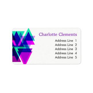 Étiquette Frappe colorée professionnelle géométrique moderne
