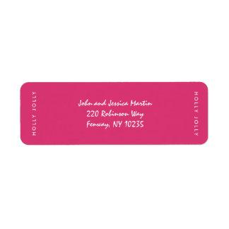 Étiquette gai de rose de Noël de houx
