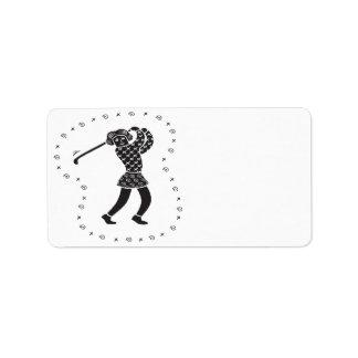 Étiquette Golfeur de femme
