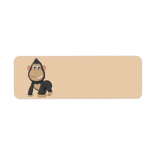 Étiquette Gorille Animated mignon